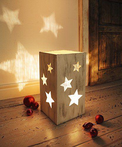 Great LEUCHTE Sternenlicht HOLZ HOLZLAMPE STERNE LATERNE TISCHLAMPE DEKOLEUCHTE LAMPE
