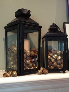 How to Clean and Dry Acorns for Decorating- Love!  Fill a lantern and use in fall centerpieces.