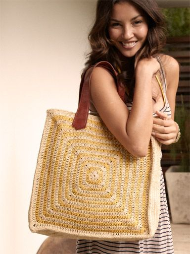 Inspiration - Summer Crochet Handbag <3