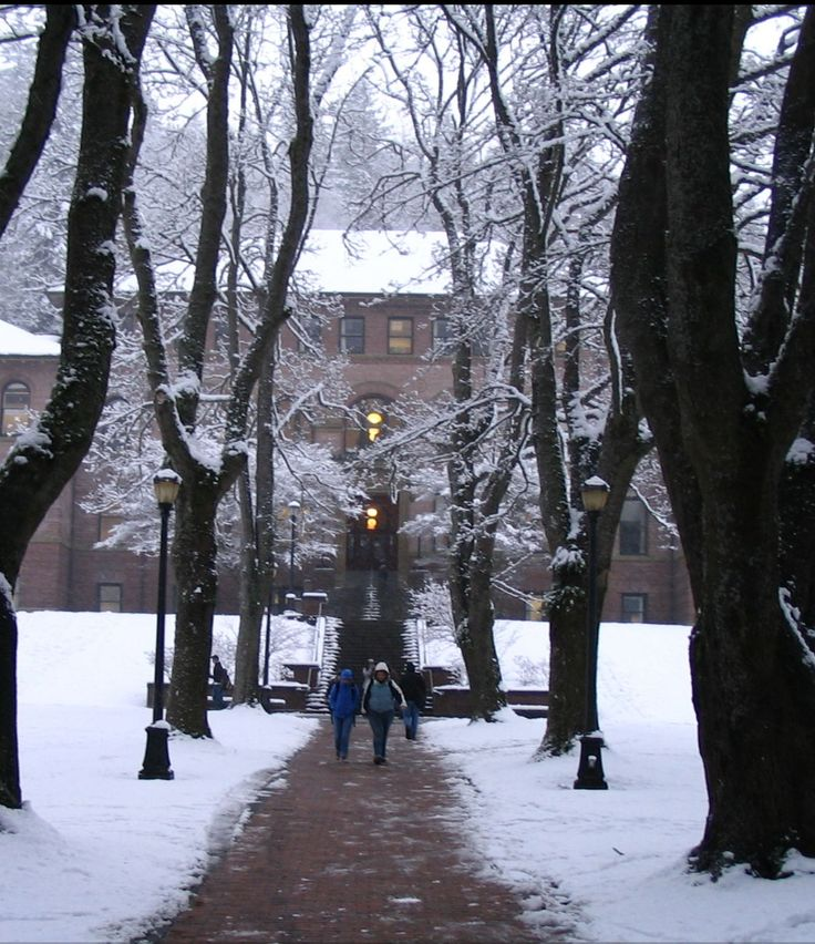 Old Main, Western Washington University in winter.