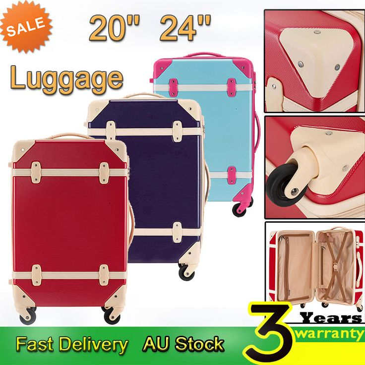 Luggage Suitcase Trolley ABS Lock Travel Carry on Bag Hard Case 4 Spinner wheels in Tickets, Travel, Luggage, Suitcases | eBay