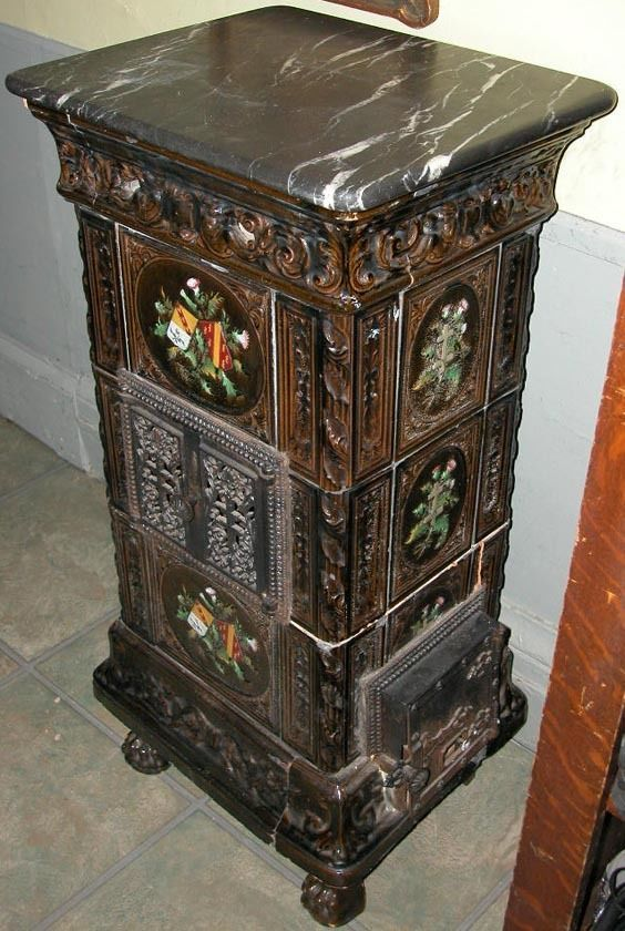 Antique 19c French Ornate Majolica Floral Tile Parlor Stove Oven Marble Top    eBay - 47 Best Images About Wood Stoves On Pinterest Ebay Auction