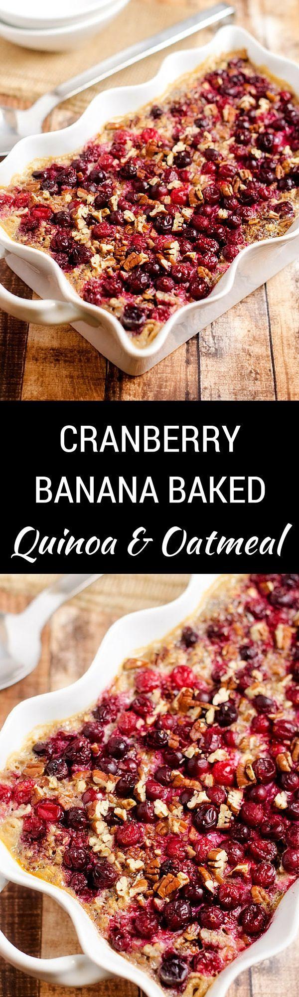 Cranberry Banana Baked Quinoa & Oatmeal