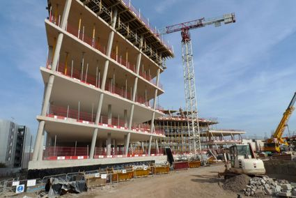 Faculty of Engineering and Computing Building, Coventry University, construction