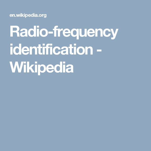 Radio-frequency identification - Wikipedia