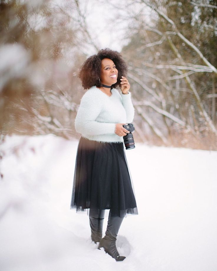 Snowy photo shoots are my fave!