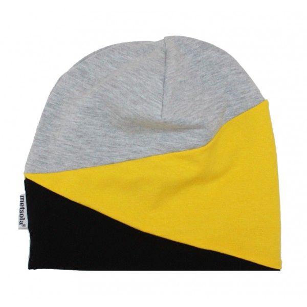 Metsola SS15: Cut Beanie, Grey/Yellow. pojalle 3-5v (n.17e)
