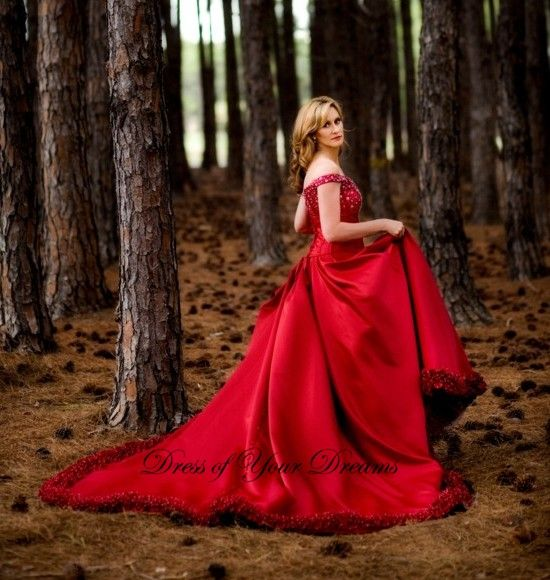 Blood Red Roses dress