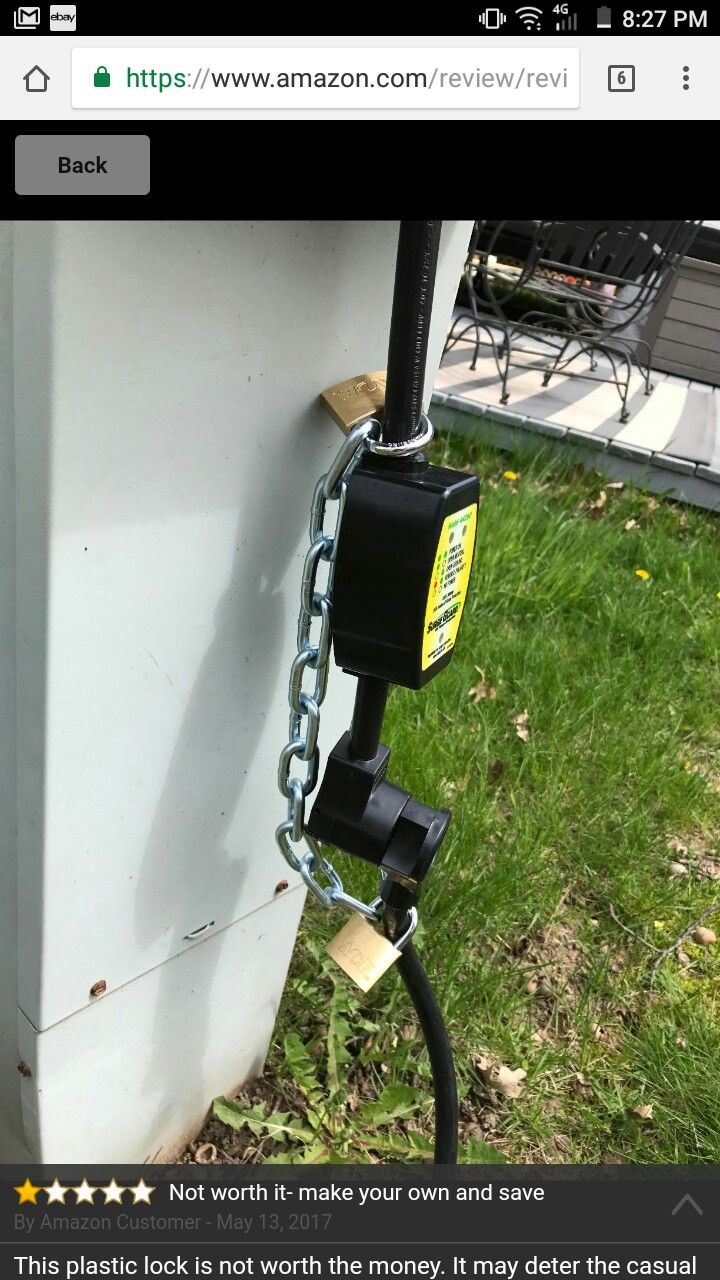 Need The Surge Protector And The Lock Camping Accessories