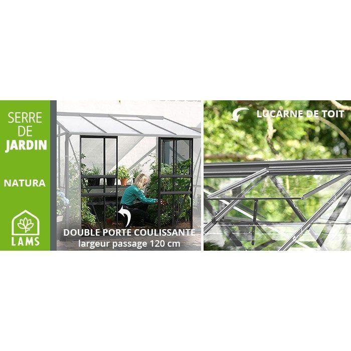 Serre De Jardin En Verre Trempe 794631 3 34 M Lams En 2020 Serre Jardin Jardins Et Verre Trempe