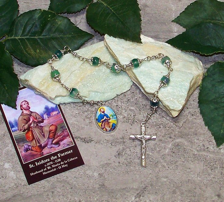 Unbreakable Catholic Chaplet of St. Isidore the Farmer - Patron Saint of Farmers, Ranchers, Laborers and Livestock - Heirloom Chaplet by foodforthesoul on Etsy