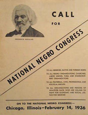 """""""The Negro peoples should not place their problems at the feet of their white sympathetic allies which has been and is the common fashion of the old school Negro leadership, for, in the final analysis, the salvation of the Negro, like the worker, must come from within.""""  --- A. Philip Randolph, Presidential Address to the National Negro Congress in Chicago, February 14, 1936."""