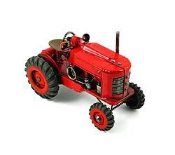 Metal Antique Red Tractor - $43.99