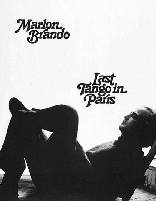 Promotional shot of Marlon Brando in the film Last Tango in Paris (1973).