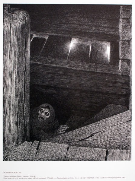 Theodor Kittelsen,   Pesta i trappa