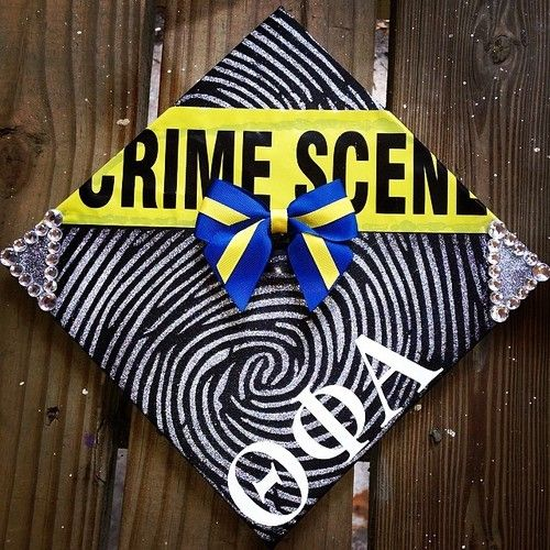 Criminal Justice Theta Phi Alpha graduation cap, from google images. Love this!