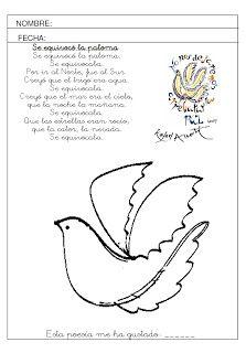 AVENTURA DIMINUTA: Las palomas de Rafael Alberti: arte, grafomotricidad y poesía para educar el alma