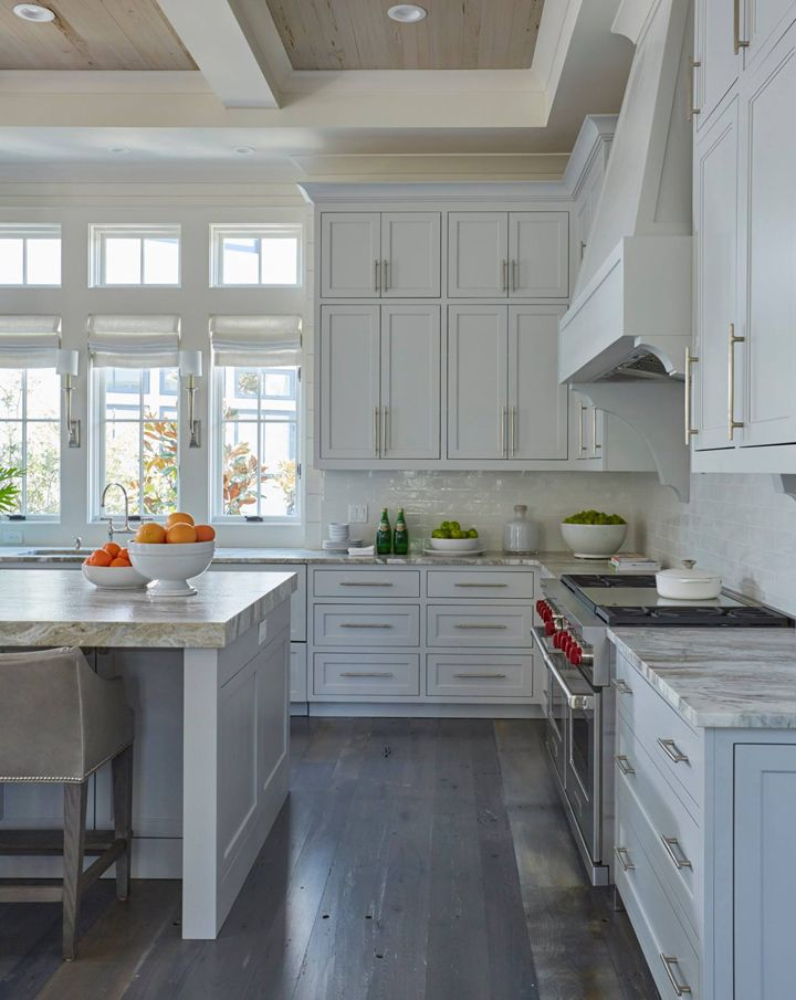 Loving the sconce placement in this beautiful kitchen!  ~Geoff Chick & Associates
