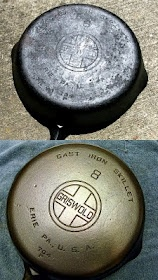 Good information for beginners on restoring and seasoning cast iron cook wear