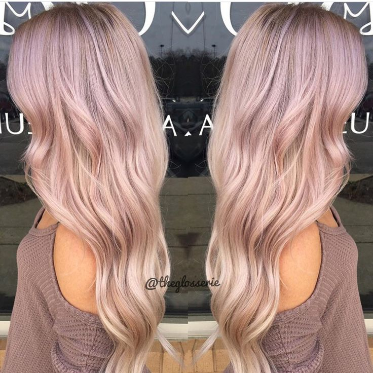 Blush balayage by April #pinkhair #blushhair #blondehair #longhair