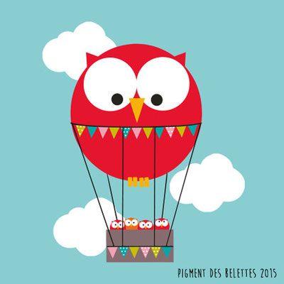 Chouette montgolfière ©Pigment des Belettes