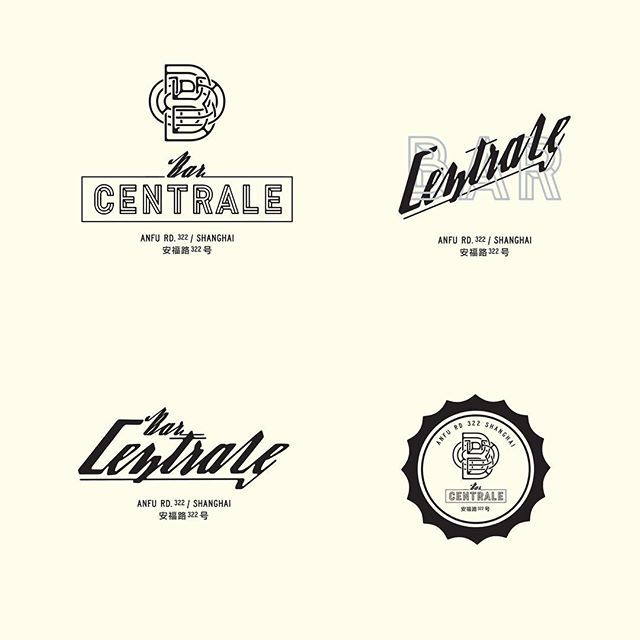 bar centrale logo typography lettering letters font epilepsjia typedesign typographyinspired. Black Bedroom Furniture Sets. Home Design Ideas