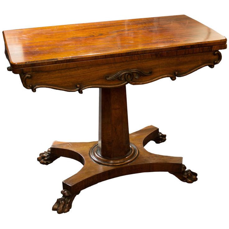 19th Century Victorian Game Table In Rosewood | From a unique collection of antique and modern game tables at https://www.1stdibs.com/furniture/tables/game-tables/