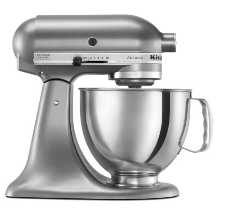 KitchenAid Artisan Series 5 Quart Tilt-Head Stand Mixer contour silver, silver stand mixer, stainless steel stand mixer, stand mixers on sale, stand mixer deals