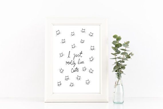 I just really like cats print // I like Cats// by littlemepaperco