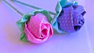 Linda flor de tecido com 10 Petalas – Passo a Passo com flor do jardim | Cantinho do Video