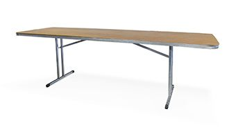 2.4m Trestle Table Wooden Top - South Coast Party Hire