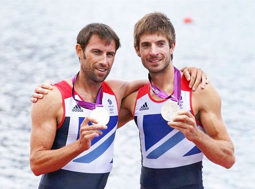 Team GB Medals 2012  26. Zac Purchase and Mark Hunter - SILVER  (Rowing: Men's Lightweight Double Sculls)