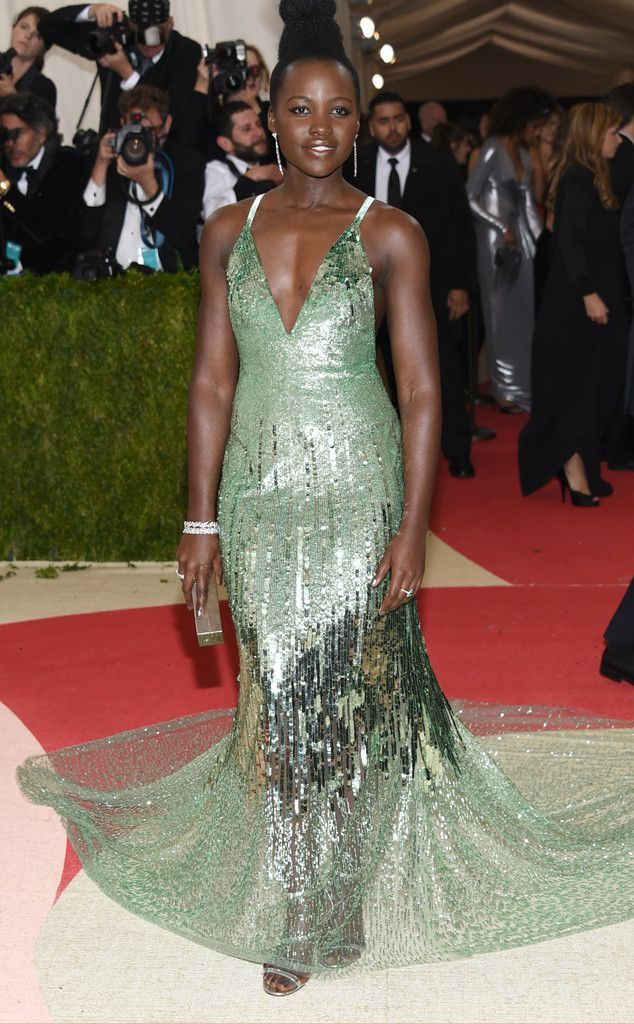 Lupita Nyong'o from Met Gala 2016: Red Carpet Arrivals  In Calvin Klein Collection