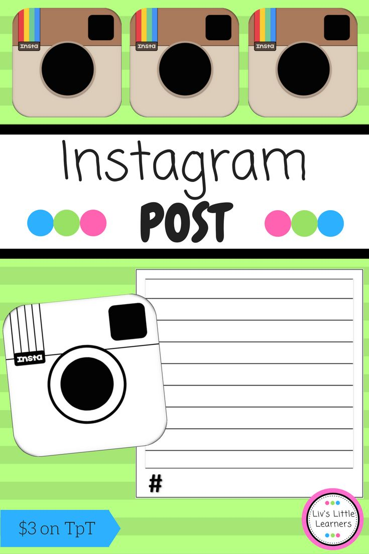 Instagram Post | Writing | Recap | Retell | English | Literacy | Primary | Education | Colour the logo