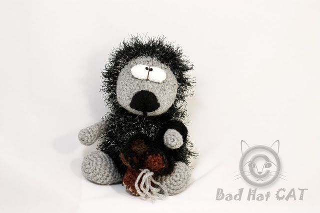 Bad Hat Cat: Boris Crochet Hedgehog Gift , Crochet Amigurumi He...