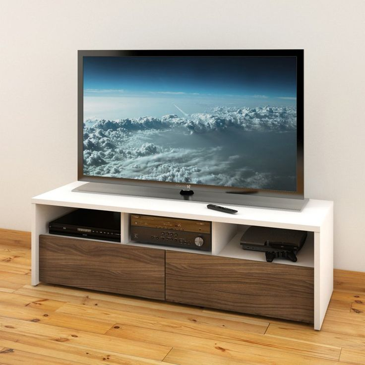 Nexera Liber-T Modular Design Your Own Storage and Entertainment System - 60 in. TV Stand - White and Espresso - 210403