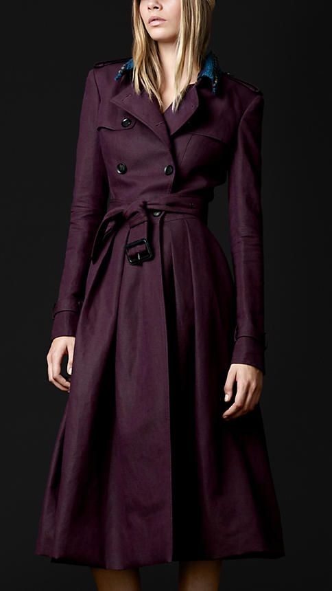 FULL SKIRT TRENCH COAT by Burberry #Fashion #Coats