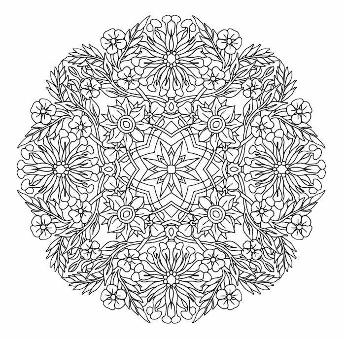 Ein Bild Mit Vielen Kleinen Und Grossen Weissen Mandala Blumen Und Kleinen Blattern Mandala Malvorlagen Blumen Malvorlagen Zum Ausdrucken Mandala Zum Ausdrucken
