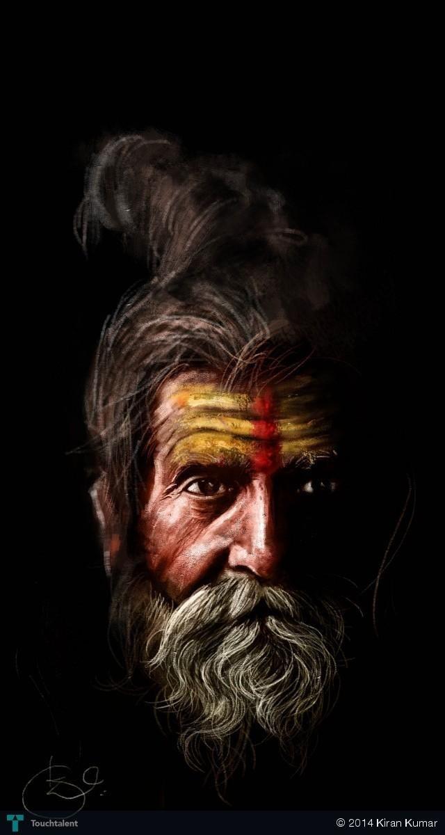 Sadhu in Digital Art by Kiran Kumar