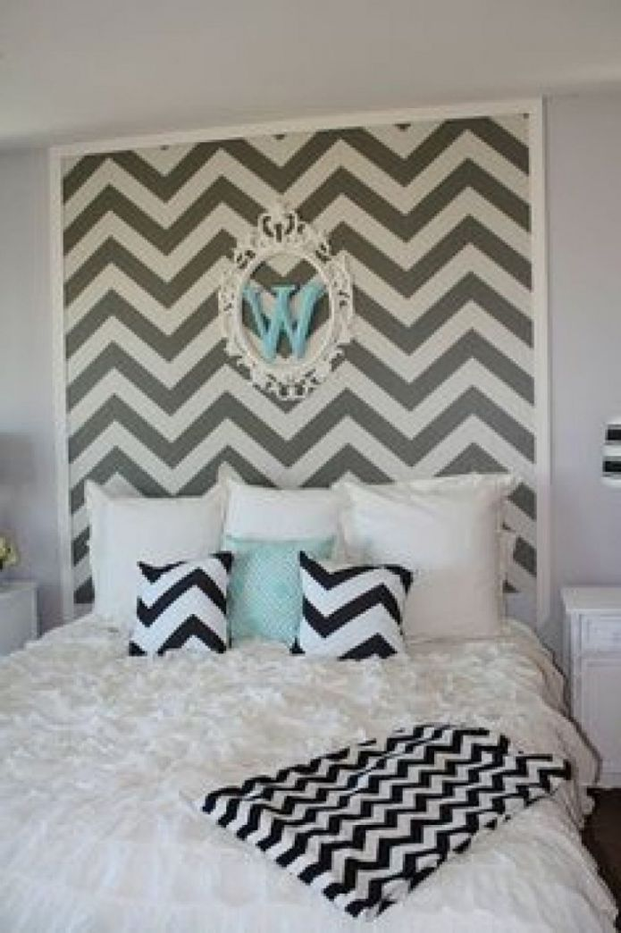Chevron Bedroom Decor - Master Bedroom Interior Design Ideas Check more at  http://