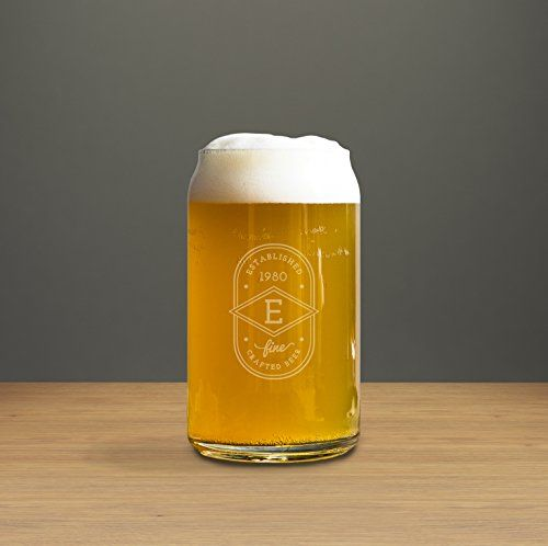 Monogrammed 16 Oz Beer Glass – Wedding Gifts For Friends