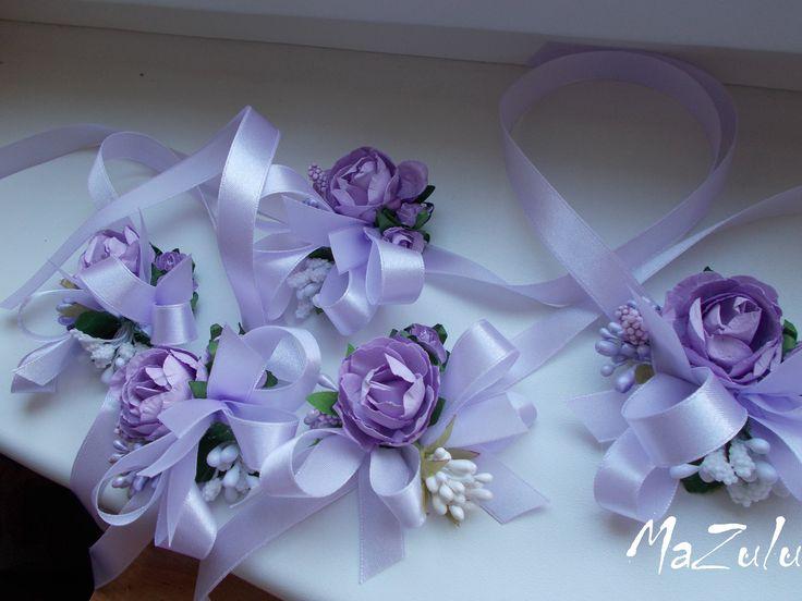 vintage svadobný náramok - levanduľkový