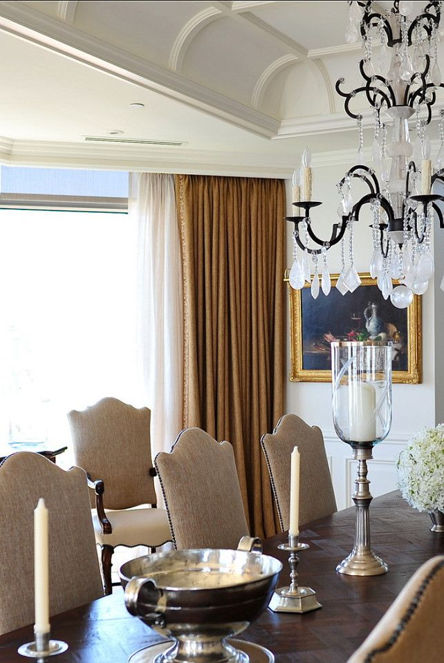 Traditional Dining Room With Neutral Color Palette. #DiningRoom #Traditional  #