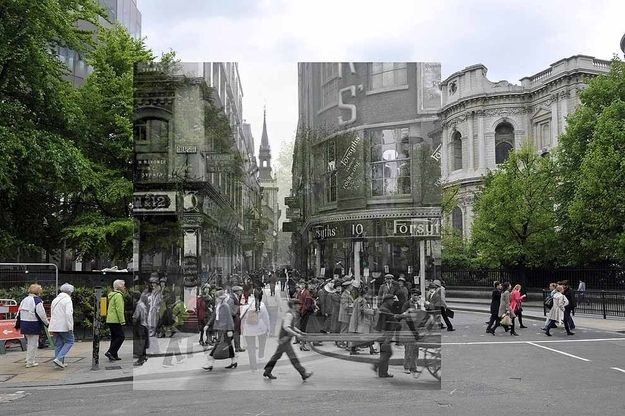 18 Photos Of London's Past, Blended With Its Present.