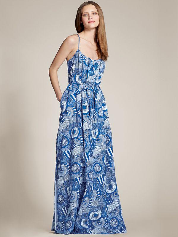 Summer's perfect dress: Patio Dress in Siirtolapuutarha Print | Banana Republic x Marimekko collection available May 22