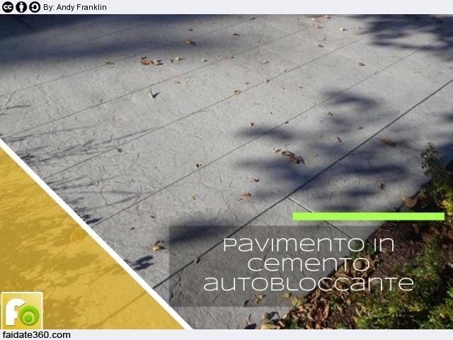 Pavimento in cemento autobloccante