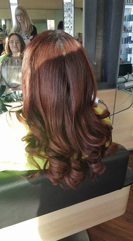curly blowdry done with #problo brushes