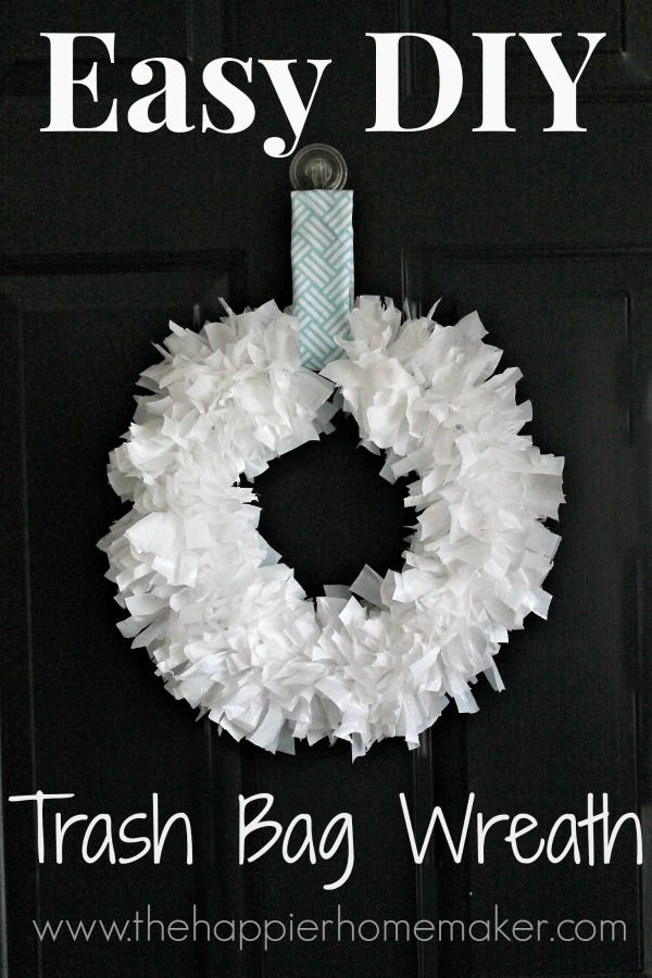 diy trash bag wreath