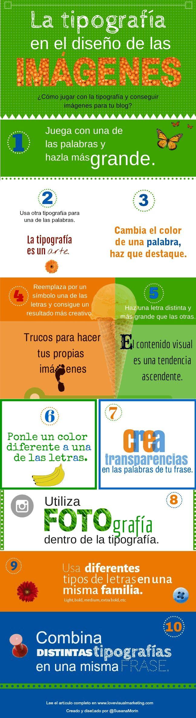 La tipografía en el diseño de imágenes #infografia #infographic #design
