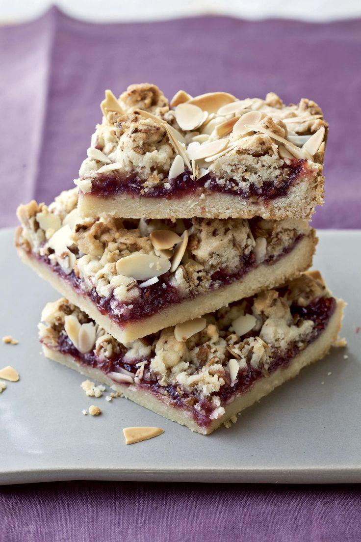 Ina Garten's Raspberry Crumble Bars #desserts  #celeb